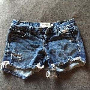 Abercrombie and Fitch Mid Length Denim Shorts