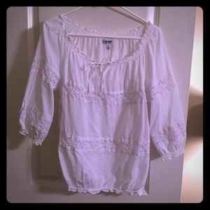 White Peasant Blouse Old Navy 7