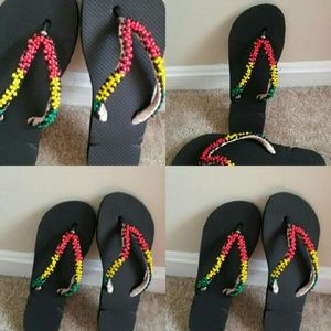 Shoes - Hand beaded flip flop