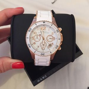 Marc by Marc Jacobs Rock Rose Gold & White Watch