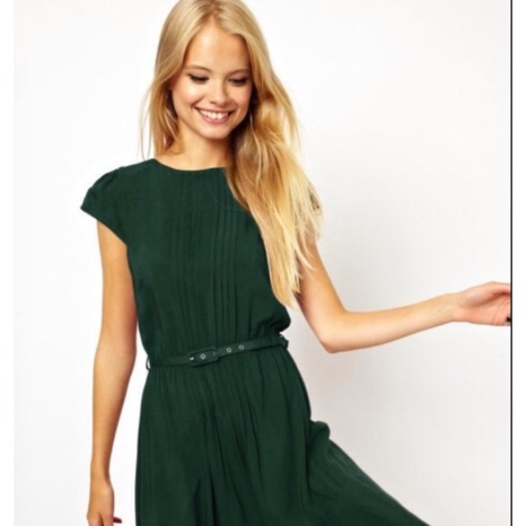 ab7eae7f9b ASOS Dresses   Skirts - ASOS Hunter Teal Green Cap Sleeve Midi Dress 6