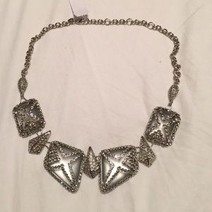 Alexis bittar caged silver Swarovski necklace