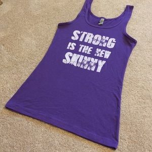 Strong Is The New Skinny Jersey Workout Tank