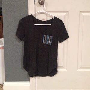 Aztec grey pocket tee from pacsun
