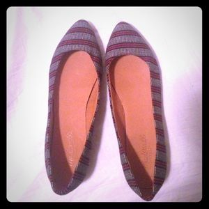 Madewell skimmer flats! Navy & red & never worn!