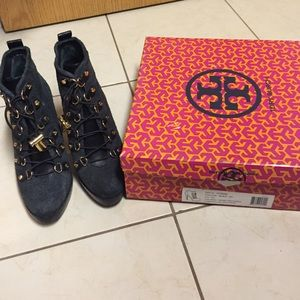 Tory Burch Halima Booties Size 6.5 Black
