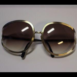 Christian Dior black and gold vintage glasses