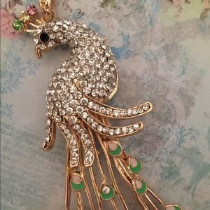 Accessories - Jeweled Peacock Pendant