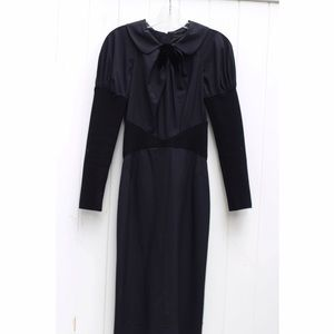 Louis Vuitton black long sleeve dress 36
