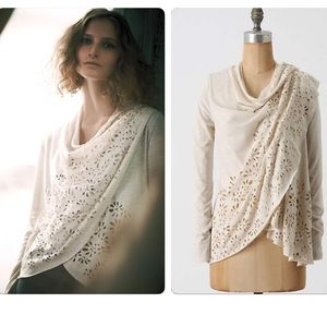 Anthropologie Wrapped Asters Cardi