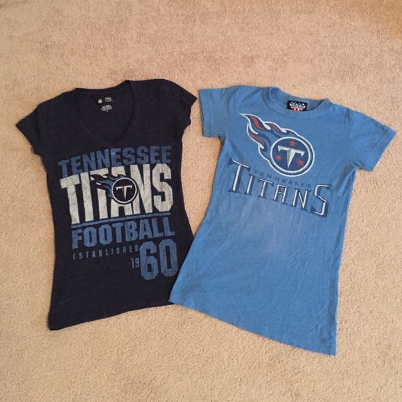 Junk Food Clothing Tops - 🏈2 Women s Fitted Tennessee Titan Tees Small🏈 0c786345e