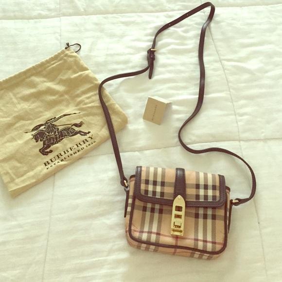 3845b19b1e9b Burberry Handbags - BURBERRY HAYMARKET MINI CROSSBODY