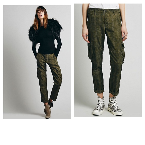 81% off NSF Pants - Free People NSF Plaid Cargo Pants from ...