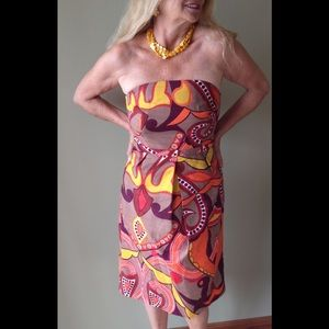 SALE! Strapless and colorful dress