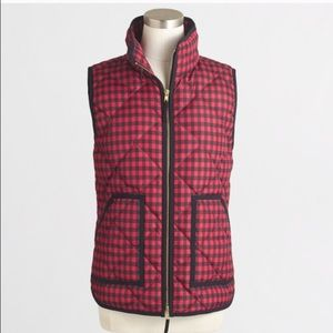 J.Crew Buffalo Plaid Quilted Puffer Vest