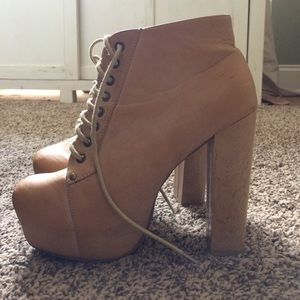 Traffic Shoes - Tan Booties