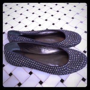 Giuseppe Zanotti Shoes - Giuseppe Zanotti gray ballet flats