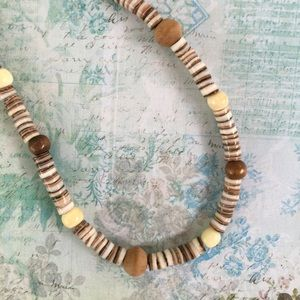 Accessories - Genuine Shell & Wood Necklace