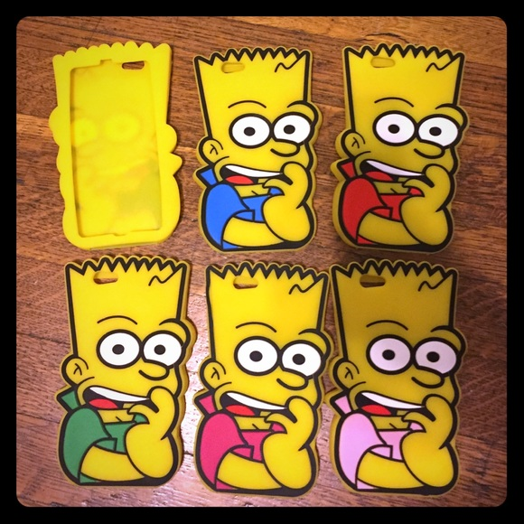 best sneakers 3acc7 4b92e 3D Bart Simpson IPhone 6/6S Phone Cases NWT