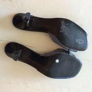 Liz Claiborne Shoes - Black and white polka dot kitten heels