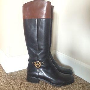 42 michael kors shoes black and brown michael kors