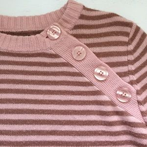 Volcom Sweaters - • Pink & Mauve Striped Sweater •
