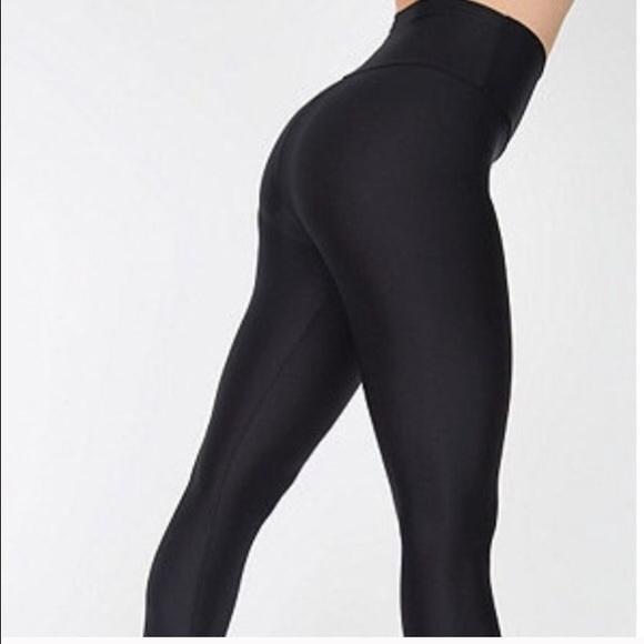 48% off American Apparel Pants - Nylon tricot High waist leggings ...