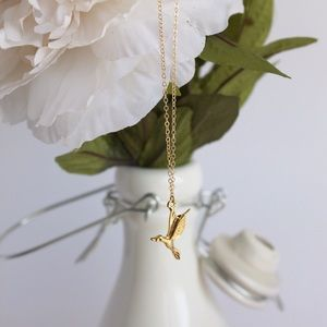 Hummingbird - Mockingjay Gold Filled Necklace