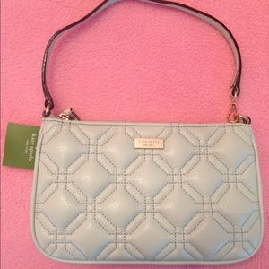 Kate Spade Astor Linen Clutch in Fademint | NWT