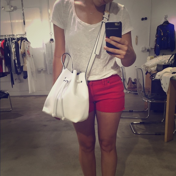 Mini Bucket Bag White Like Mansur Gavriel