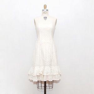 White Eyelet Strapless Dress