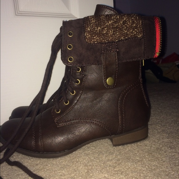50% off Aeropostale Shoes - SALE! Half price Combat Boots - Brown ...