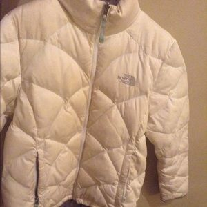 White North Face Coat HOLD FOR ANIKA