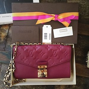 Louis Vuitton Clutches & Wallets - Red Louis Vuitton limited edition wallet on chain