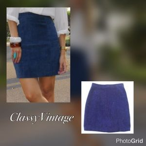 Cosa Nova Dresses & Skirts - Blue suede skirt by Cosa Nova