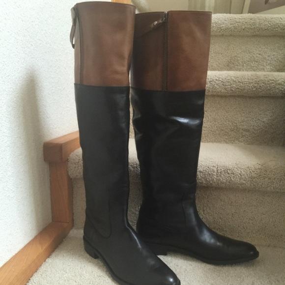 e7acc125581 Stuart Wietzman Tall Black and Tan Riding Boots NWT