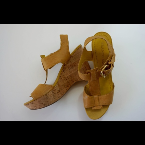 73 franco sarto shoes mustard yellow wedges from