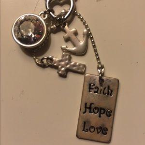 25 off luna amore jewelry faith hope love sterling for Faith hope love jewelry