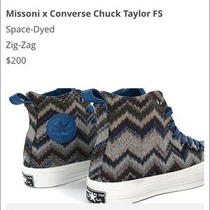 Missoni Converse high tops