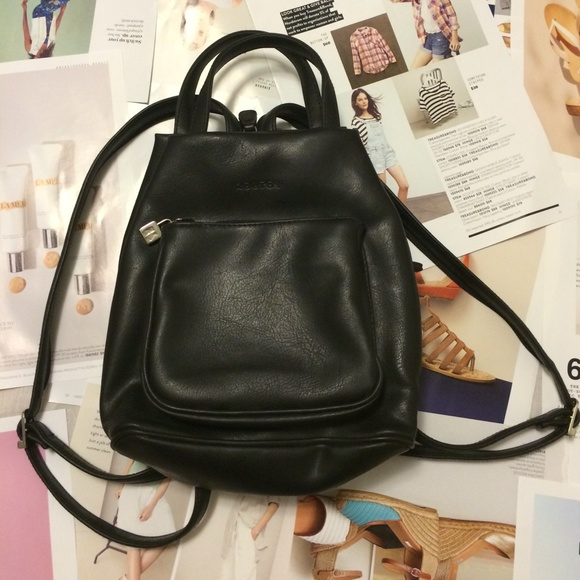 Koltov Handbags - Super bite black mini backpack purse! 590dd9f59d257