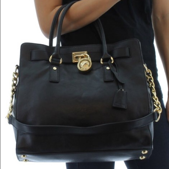 Authentic MICHAEL KORS HAMILTON bag w REAL leather.  M 559a964f397c623a41012b73 966197cfd6
