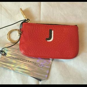 NWT Rebecca Minkoff red small ID case/coin purse