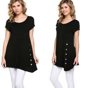 Button Accent Tunic Top