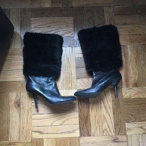 Gucci mink boots