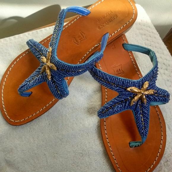 217101931 Kristen s Kloset Shoes - Flash Sale!  15 Leather starfish thong sandals!