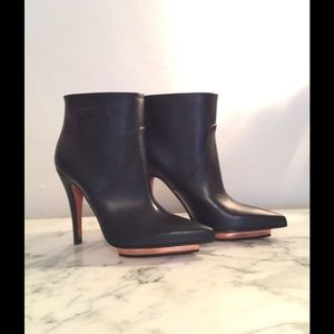 NWOB Missoni Black leather ankle boots size 36.5