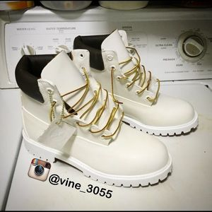 73 Off Timberland Boots All White Timberlands With
