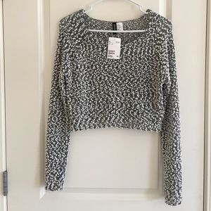 Cotton Ball Crop Sweater