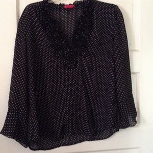 Black and white button down top size medium