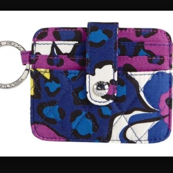 best website b89d3 b810f Vera Bradley in a snap card case in African violet NWT